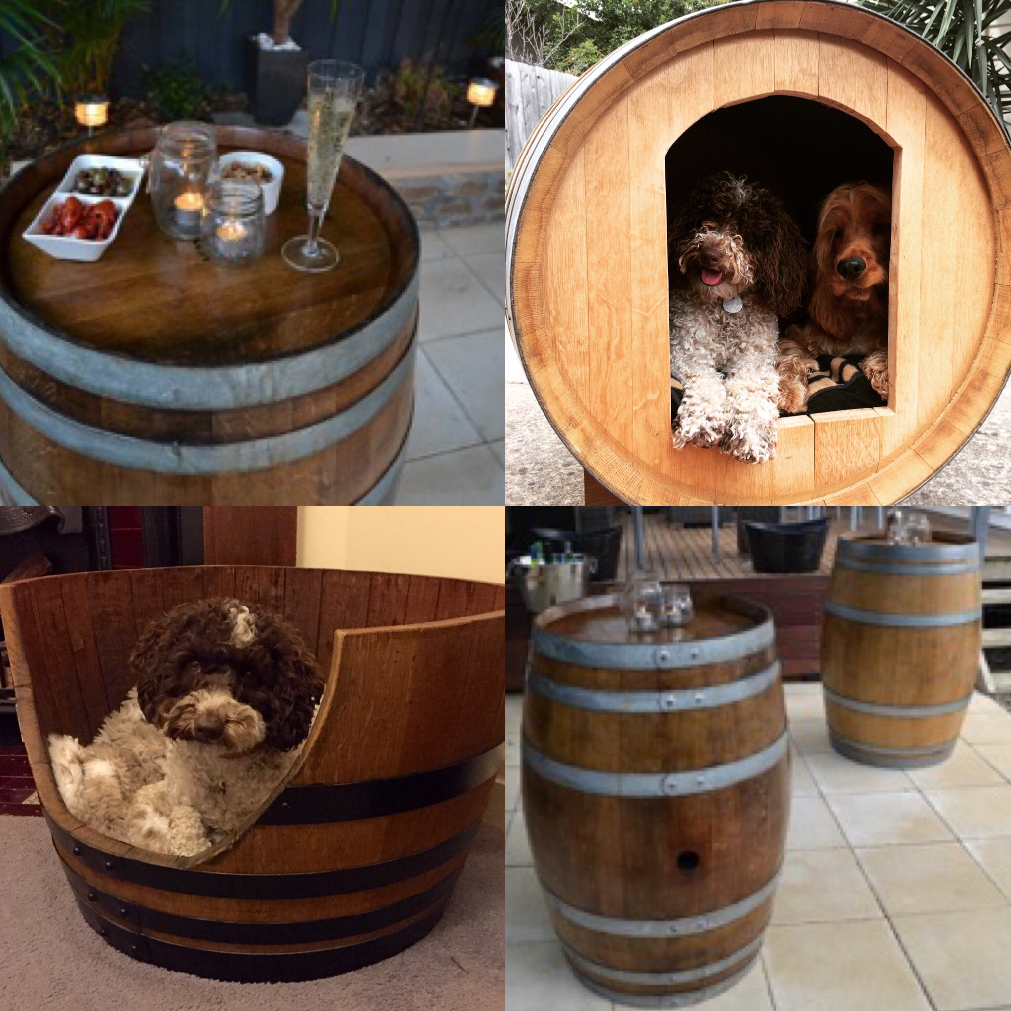 Wine Barrel Dog Kennel For Sale